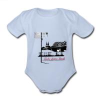 """Baby-Body mit """"Liebe deine Stadt"""" Aufdruck"""