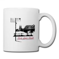 """Kaffeetasse mit """"Liebe deine Stadt"""" Aufdruck"""