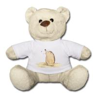 """Teddy mit dem Aufdruck """"Max, der Igel"""""""