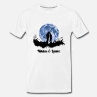 """T-Shirt mit Namen und dem Aufdruck """"Mondliebe"""""""