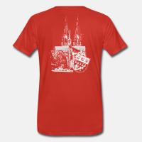 "T-Shirt mit dem Motiv ""Köln"" in grau-weiß"