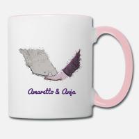 """Motiv """"Pferdeliebe"""" auf einer Tasse"""