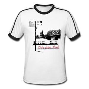 """Retro-Shirt mit Köln Aufdruck """"Liebe deine Stadt"""""""